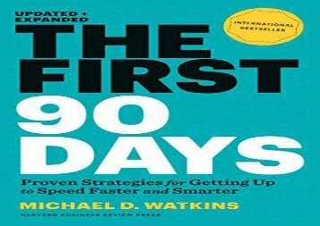 [+][PDF] TOP TREND The First 90 Days, Updated and Expanded: Proven Strategies for Getting Up to Speed Faster and Smarter  [DOWNLOAD]