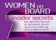 [+]The best book of the month Women on Board: Insider Secrets to Getting on a Board and Succeeding as a Director [PDF]