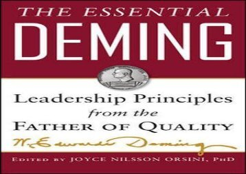[+][PDF] TOP TREND The Essential Deming: Leadership Principles from the Father of Quality  [READ]