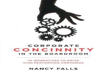[+]The best book of the month Corporate Concinnity in the Boardroom [PDF]