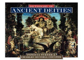 Free PDF Dictionary of Ancient Deities Any Format