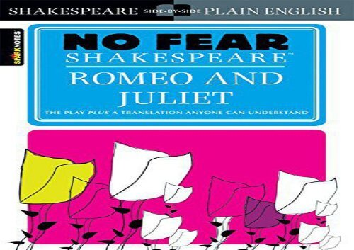 AudioBook Romeo and Juliet (Sparknotes No Fear Shakespeare) Any Format