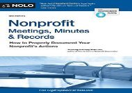 [+][PDF] TOP TREND Nonprofit Meetings, Minutes   Records: How to Properly Document Your Nonprofit s Actions  [DOWNLOAD]