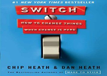 [+]The best book of the month Switch: How to Change Things When Change Is Hard  [FREE]