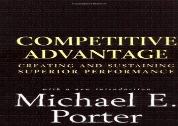 [+][PDF] TOP TREND Competitive Advantage: Creating and Sustaining Superior Performance  [FULL]