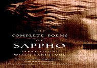 Free PDF The Complete Poems of Sappho For Full
