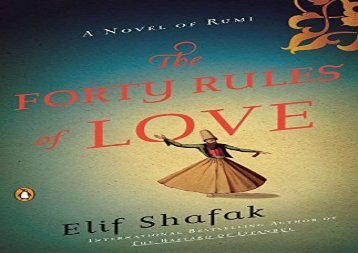 AudioBook The Forty Rules of Love: A Novel of Rumi Review