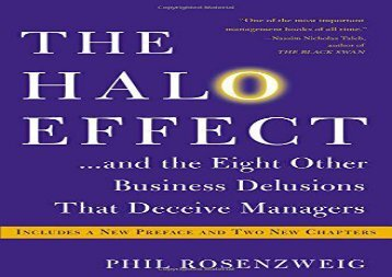 [+]The best book of the month The Halo Effect... and the Eight Other Business Delusions That Deceive Managers  [DOWNLOAD]