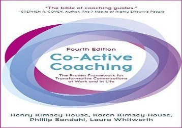 [+]The best book of the month Co-Active Coaching: The proven framework for transformative conversations at work and in life - 4th edition  [NEWS]