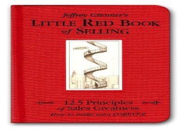 [+][PDF] TOP TREND The Little Red Book of Selling: 12.5 Principles of Sales Greatness  [FULL]