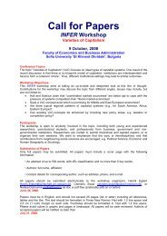 Call for Papers INFER Workshop