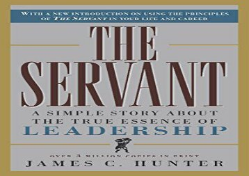 [+][PDF] TOP TREND The Servant: A Simple Story About the True Essence of Leadership  [FULL]
