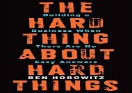 [+]The best book of the month The Hard Thing About Hard Things: Building a Business When There Are No Easy Answers  [READ]