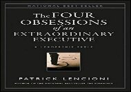 [+][PDF] TOP TREND The Four Obsessions of an Extraordinary Executive: A Leadership Fable  [FULL]