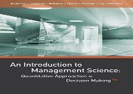 [+]The best book of the month An Introduction to Management Science: Quantitative Approaches to Decision Making  [DOWNLOAD]