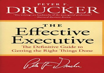 [+]The best book of the month The Effective Executive: The Definitive Guide to Getting the Right Things Done (Harperbusiness Essentials) [PDF]