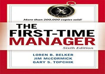 [+][PDF] TOP TREND The First-Time Manager  [FULL]