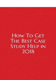How To Get The Best Case Study Help in 2018