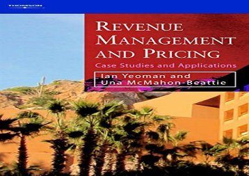 [+][PDF] TOP TREND Revenue Management and Pricing: Case Studies and Applications  [READ]