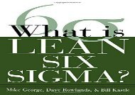[+]The best book of the month What is Lean Six Sigma  [FULL]