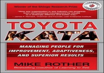 [+][PDF] TOP TREND Toyota Kata: Managing People for Improvement, Adaptiveness and Superior Results [PDF]
