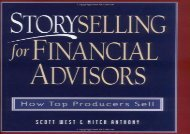 [+][PDF] TOP TREND StorySelling For Financial Advisors: How Top Producers Sell  [DOWNLOAD]