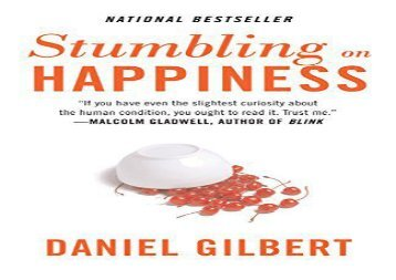 [+][PDF] TOP TREND Stumbling on Happiness (Vintage)  [FREE]