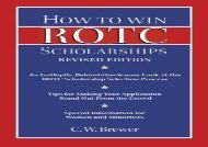 [+]The best book of the month How to Win ROTC Scholarships: An In-Depth, Behind-The-Scenes Look at the ROTC Scholarship Selection Process  [READ]