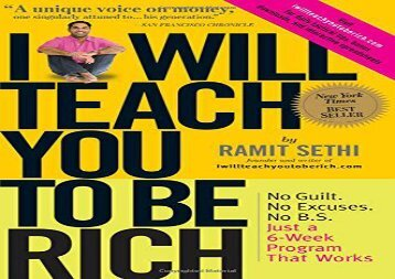 [+]The best book of the month I Will Teach You to Be Rich  [NEWS]