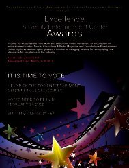 Awards Awards - Tourist Attractions & Parks