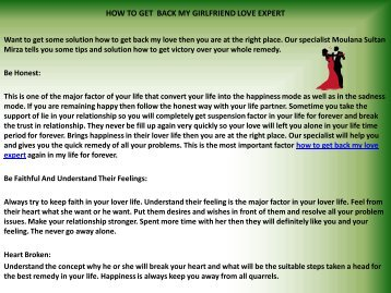 How To Get Lost Love Back With Black Magic