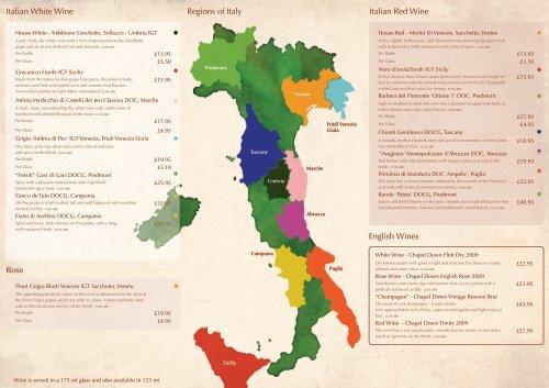 Regions Of Italy Italian Red Wine The Real Man Pizza Company