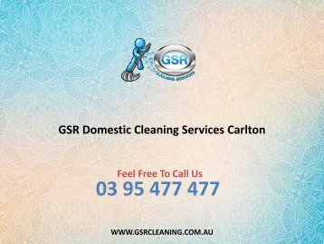 GSR Domestic Cleaning Services Carlton