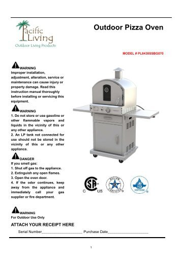 Outdoor Pizza Oven - Pacific Living, Inc.