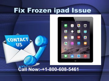 Fix Frozen ipad Issue