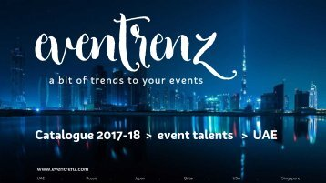eventrenz's talent catalogue in UAE