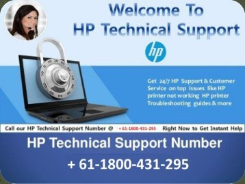 HP printer support number + 61-1800-431-295