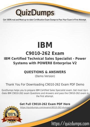 C9010-262 Exam Dumps - Real C9010-262 Dumps PDF [2018]