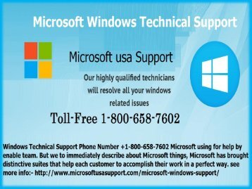 Resolve issues +1(800)-658-7602 Microsoft Windows Technical Support