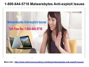 1-800-644-5716 Malwarebytes Anti-exploit Issues