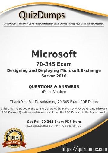 70-345 Exam Dumps - Prepare 70-345 Dumps PDF [2018]