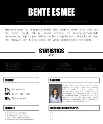 BENTE ESMEE mediakit 2018