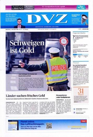 DVZ (Deutsche Verkehrs-Zeitung) vom 09.10.2012