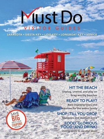 Must Do Sarasota Visitor Guide Summer/Fall 2018