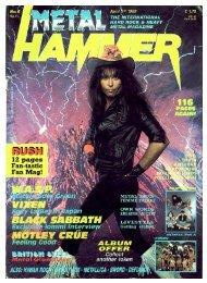 Metal Hammer April 1989