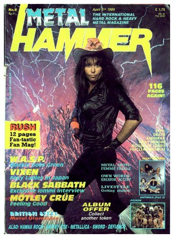Metal Hammer April 1989