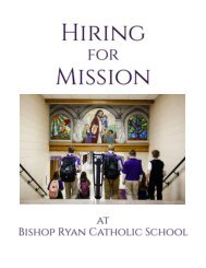 Hiring for Mission at Bishop Ryan Catholic School