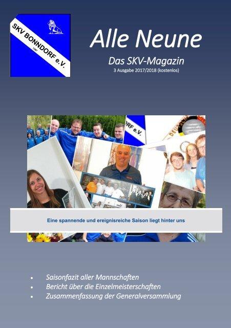 Alle Neune, Ausgabe 3 - 2017/2018