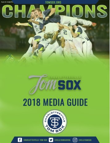 Tom Sox Media Guide 2018 DRAFT