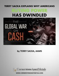 Terry Sacka Explains Why Americans Buying Power Has Dwindled